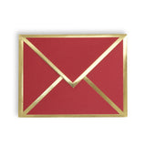 Blank Red Card & Envelope