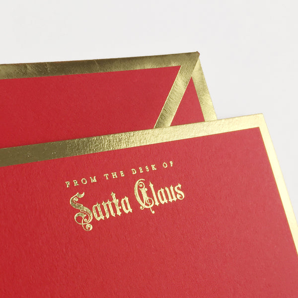 From the Desk of Santa Claus Red Card