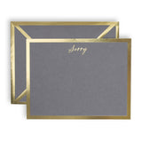 Sorry Gray Card & Envelope