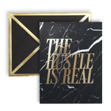 The Hustle Is Real Black Marble Card