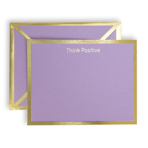 Think Positive Lavender Card & Envelope
