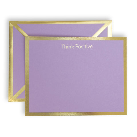 Think Positive Lavender Card