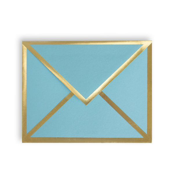 Blank Turquoise Card & Envelope
