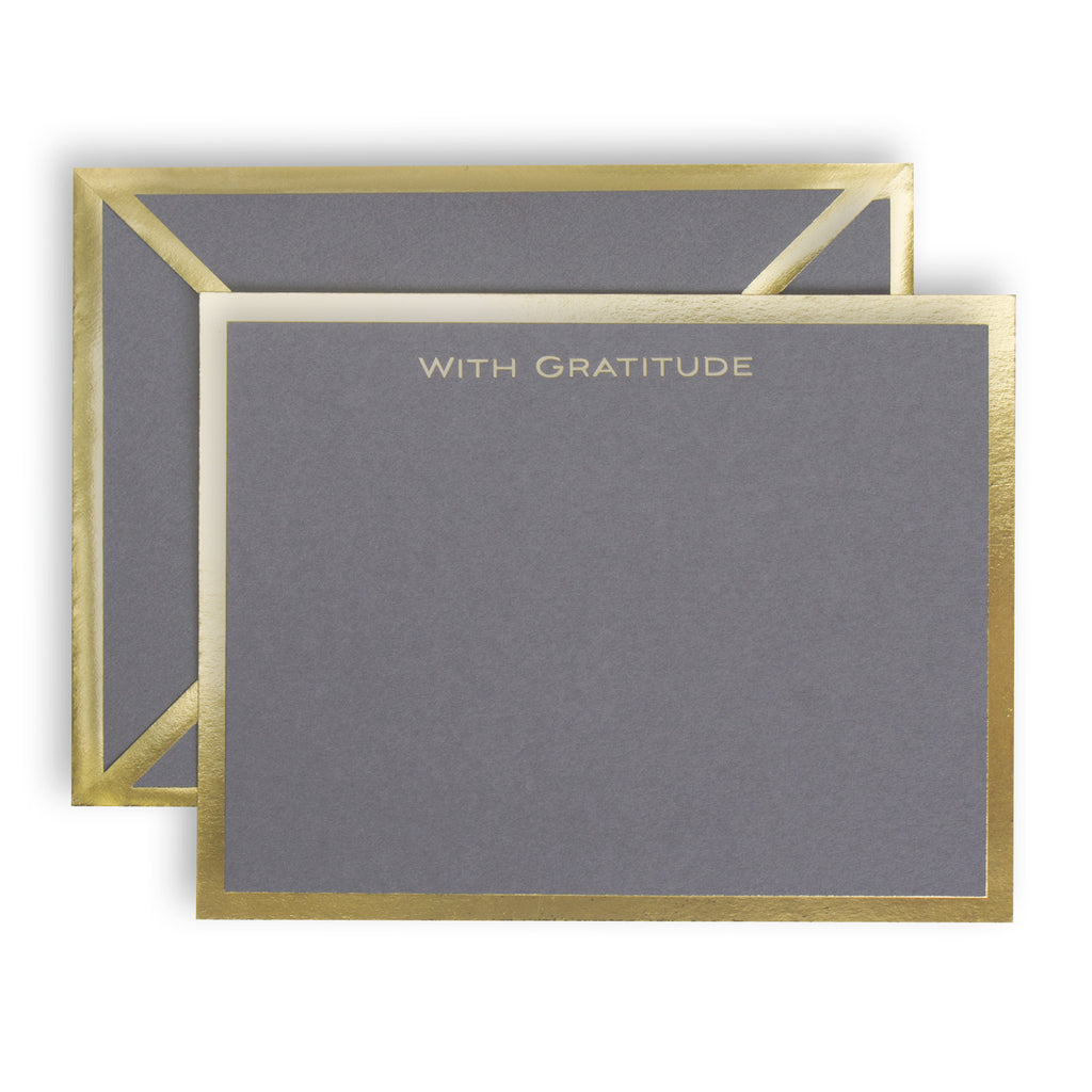 With Gratitude Gray Card
