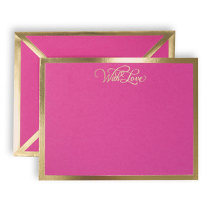 With Love Fuchsia Card