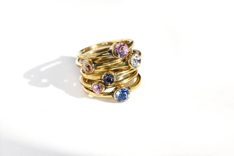Christal Rings Set