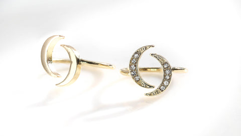 Avita Moon Rings Set