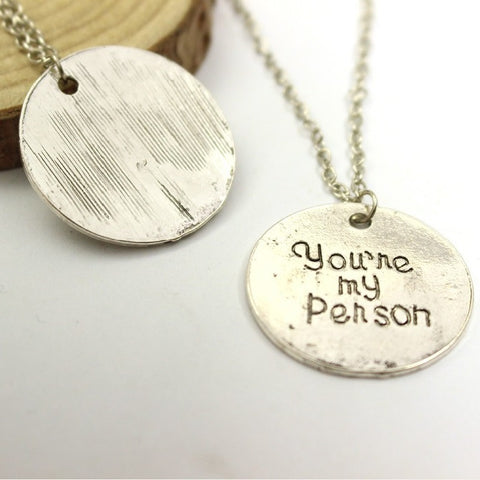 You Are My Person, You Will Always Be My Person Pendant Necklaces - topnotchloot  - 2