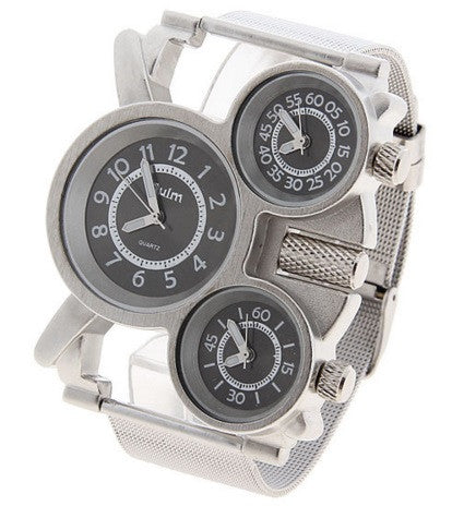 OULM Men's Multi-Function Quartz Steel Watch - topnotchloot  - 3