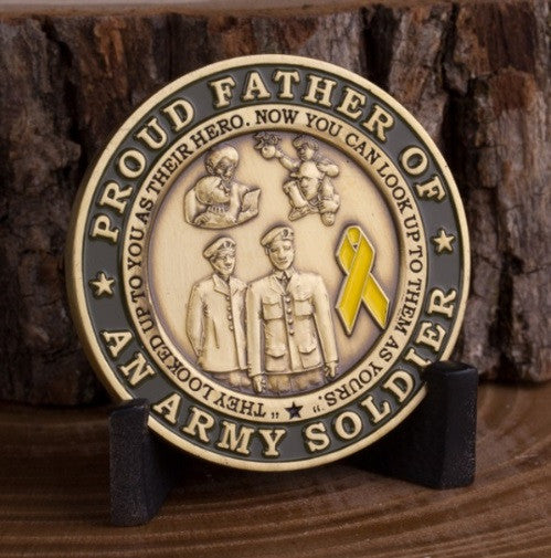Proud Army Father Challenge Coin - topnotchloot  - 1