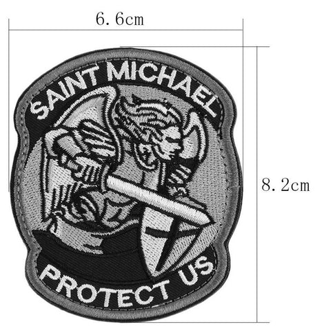 Saint Michael Protect Us Morale ACU Patch - topnotchloot  - 2