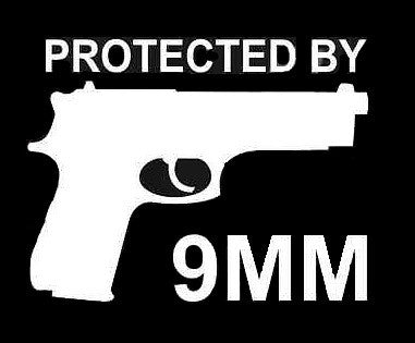 Protected By 9MM Bumper Sticker - topnotchloot