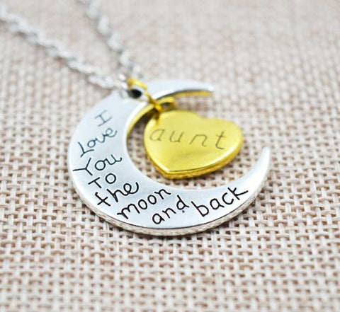I Love You To The Moon And Back Necklace - topnotchloot  - 2