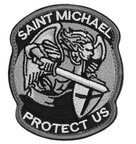 Saint Michael Protect Us Morale ACU Patch - topnotchloot  - 1