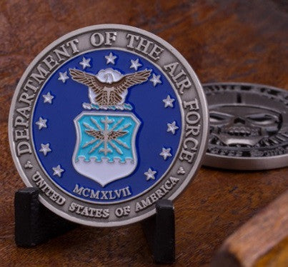 Death Smiles at Everyone...The Air Force Smiles Back Challenge Coin - topnotchloot  - 2
