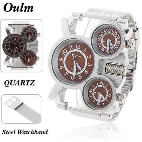 OULM Men's Multi-Function Quartz Steel Watch