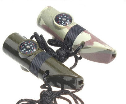 7-in-1 Survival Whistle Kit