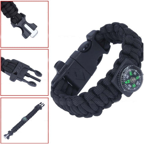 Paracord Survival Bracelet w/Compass - topnotchloot  - 1