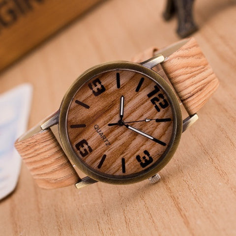 Wooden Quartz Men Watch