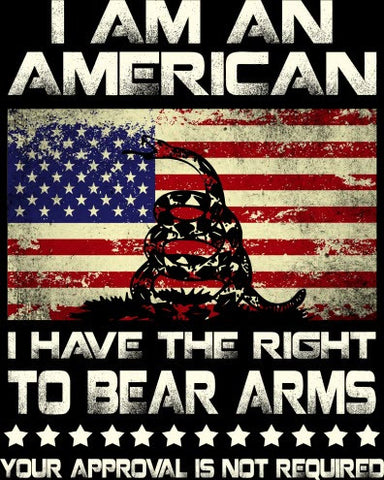 """The Right to Bear Arms"" Vinyl Decal Sticker (5"" tall)"