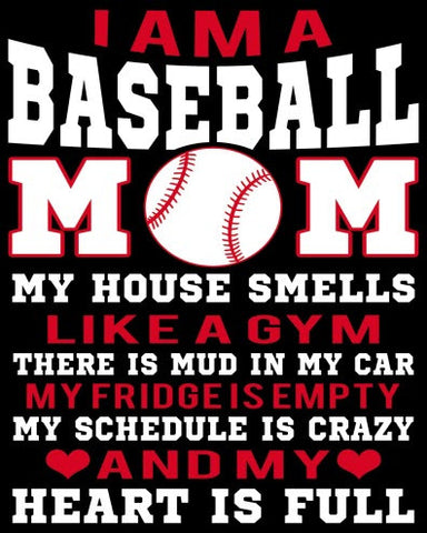 """I am a Baseball Mom"" Vinyl Decal Sticker (5"" tall) - topnotchloot  - 1"