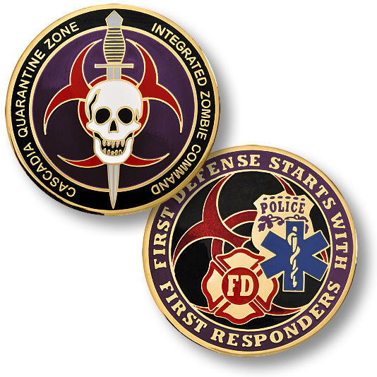 Cascadia Quarantine Zone First Responder Challenge Coin - topnotchloot