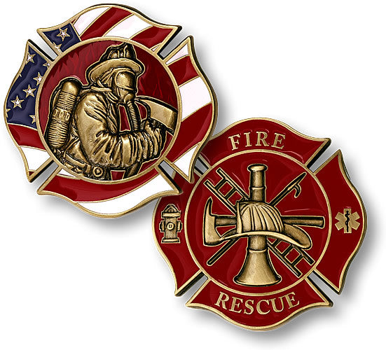 Fire Fighter Maltese Coin - topnotchloot