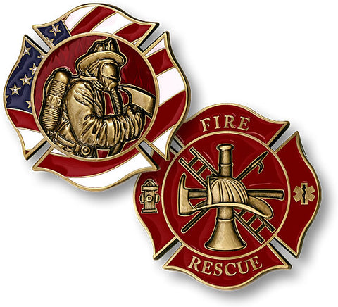 Fire Fighter Maltese Coin