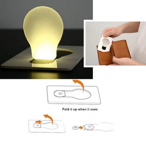 Portable LED Card Pocket Light Bulb Lamp