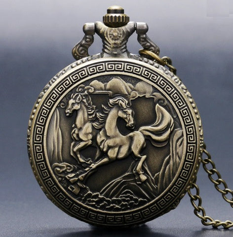 Bronze Horse Pocket Watch - topnotchloot