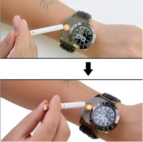 Electronic Lighter & USB Quartz Watch
