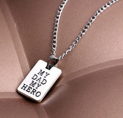 My Dad My Hero Necklace - topnotchloot