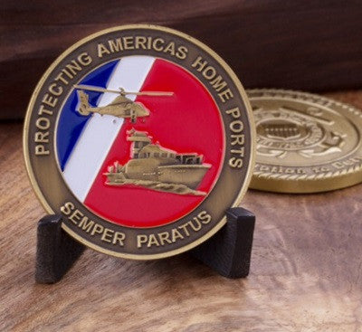 United States Coast Guard Devotion to Duty Challenge Coin