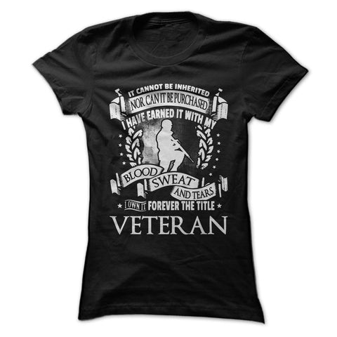 Forever the Title Veteran - T-Shirt - topnotchloot  - 2