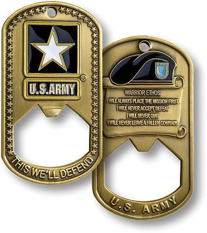 Army Dog Tag Bottle Opener