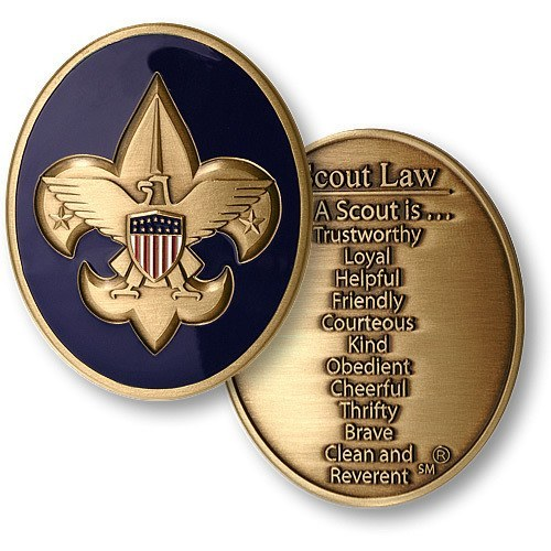 Boy Scout Law Coin - topnotchloot