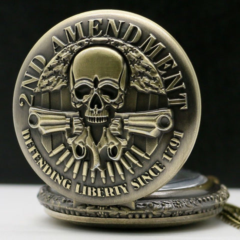 Bronze 2nd Amendment Pocket Watch - topnotchloot  - 3