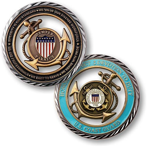Coast Guard Core Values Coin