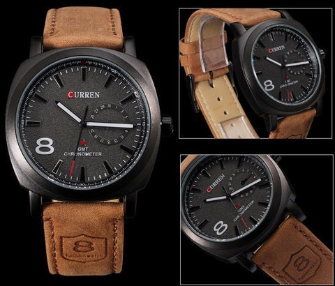 Curren Luxury Watch with Leather Band