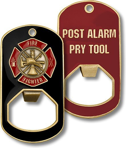 Fire Fighter Dog Tag Bottle Opener - topnotchloot