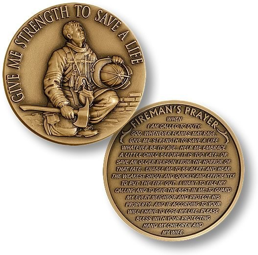 Fire Fighters Prayer Coin - topnotchloot