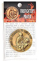 Accessory - Fire Fighters Prayer Coin