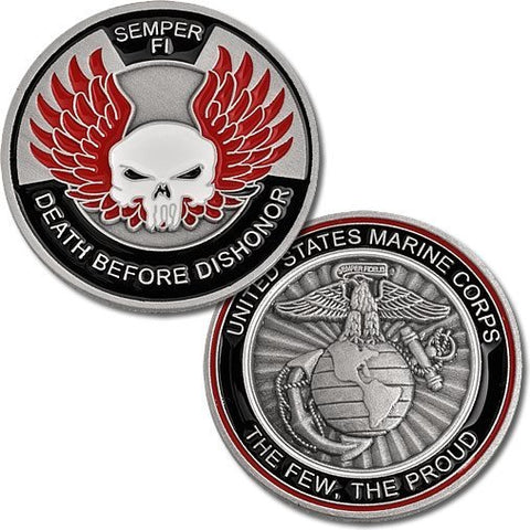 Marines Death Before Dishonor Coin