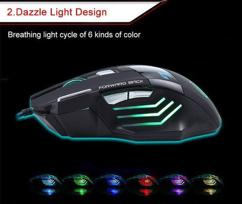 Professional 7 Button Gaming Mouse LED Glow - topnotchloot  - 2
