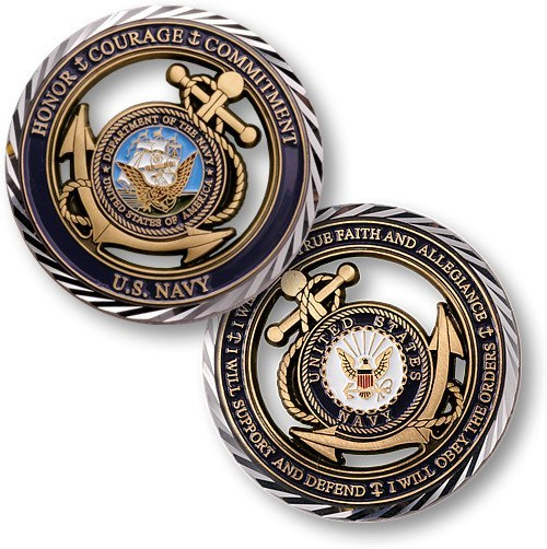 US Navy Core Values Coin - topnotchloot