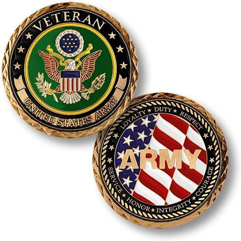 Veteran US Army Coin