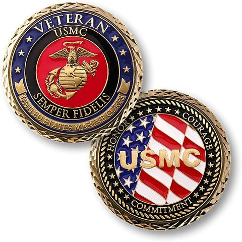Veteran US Marines Coin