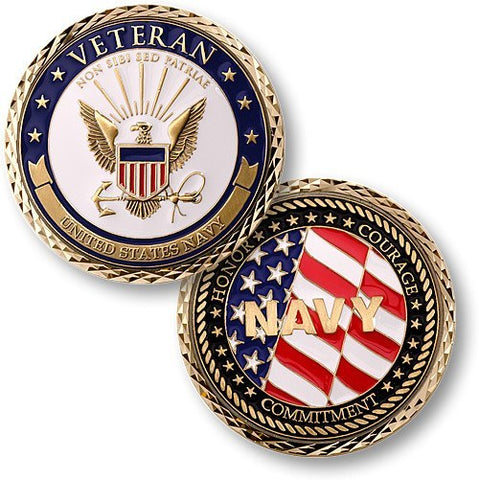 Veteran US Navy Coin