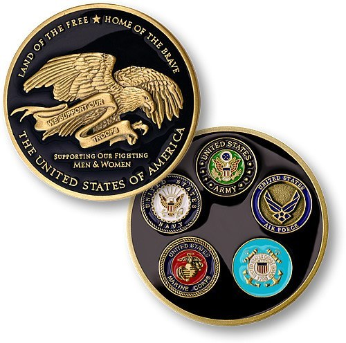 We Support Our Troops Coin - topnotchloot