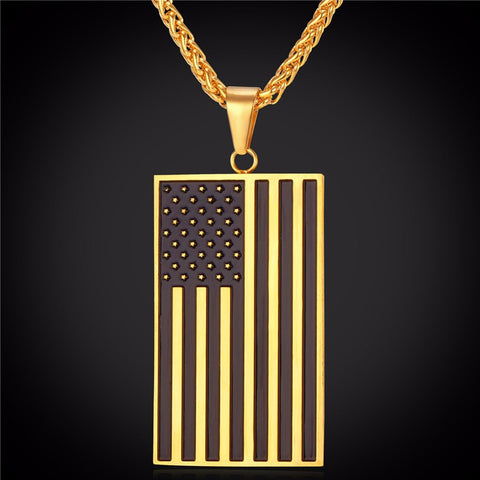 American Flag Necklace - topnotchloot  - 2